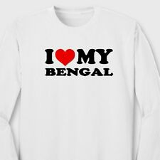 I HEART MY BENGAL Cat Kitten Animal Lovers T-shirt Show Love Long Sleeve Tee