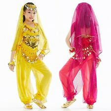 Children Kids Girls Belly Dance Costume Outfit Bollywood Halloween Indian Dance