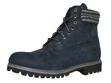 MENS TIMBERLAND 6612 6 INCH CLASSIC LEATHER BOOTS NAVY BLUE SIZE 6-11 NEW FB901B