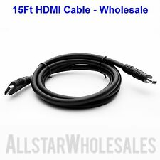 15Ft HDMI Cable 1080P HDTV DVD LCD LED PS3 XBOX PC HD TV 3D Blue-Ray - Wholesale