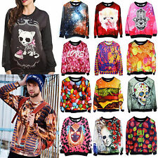 3D Womens Space Galaxy T-shirt sweater Sweatshirt Hoodie Pullover Tops Tracksuit
