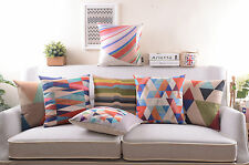 "Vintage 18""Saqure Chic Cotton Linen Pillow Case Home Decor Sofa Cushion Cover"
