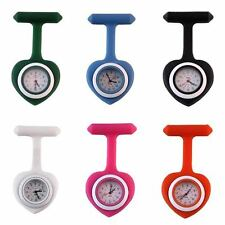 Silicone Heart Face Nurse Doctor Paramedic Tunic Brooch Fob Watch Medical Watch