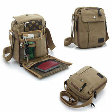 Mens Vintage Canvas Satchel School Military Shoulder Bag Messenger Bag