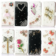 For Samsung bling flip leather stand card holder phone case cover