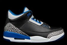 NIKE AIR JORDAN 3 RETRO III SPORT BLUE 136064-007 DS Size 7.5-14