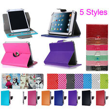 "Universal Adjustable PU Leather Stand Case Cover For Android Tablet 10"" 9"" 8"" 7"""