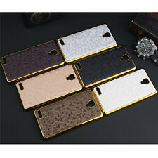 Luxury Bling PU Leather Back Cover Chromed Hard Case For Xiaomi MI HONGMI NOTE