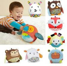 GOUS 1PC OWL etc. Animal Ball shaped Stuffed Rattle Gift Soft Toy Doll Baby Kids