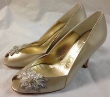 Rachel Simpson Iris champagne leather shoes. Various Sizes.