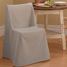 Sure-Fit Cotton Duck Folding Chair Slipcover