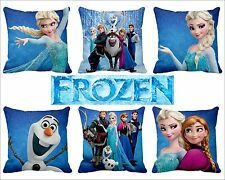 "14"" Satin Disney Frozen Elsa Anna Olaf SvenHans Pillow Case Car Bed Sofa Cushion"