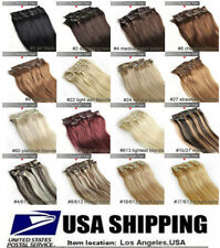 "16""18""20""22""24""26""28"" 7PCS 70g 80g 100g 120g Clip In Remy Human Hair Extensions"