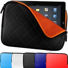 """Quilted Zip Carry Case Cover Padded Pouch Sleeve Bag Up to 10.2"""" Tablet/Netbooks"""