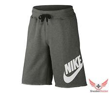 New 2014 Mens Nike AW77 Alumni Shorts Sweats Charcoal Grey/White All Sizes