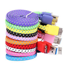 3FT Braided USB Sync Data Charger Cable Cord For Samsung Galaxy S5 i9600 Note 3