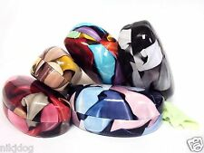 Hard Sunglass Cases Brown Black Pink Blue Clamshell