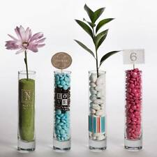 24 Custom Printed Glass Bud Vase Wedding Decor Party Favor Supplies
