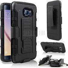 Shockproof Armor Hybrid Rugged Impact Hard Stand Belt Clip Holster Case Cover