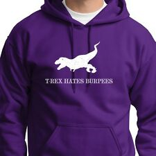 T-rex HATES Burpees Workout Funny Training T-shirt Crossfit Hoodie Sweatshirt