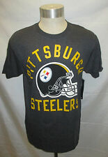 Pittsburgh Steelers Men's Short Sleeve Tee with Solid Lettering