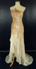 TERANI COUTURE P100 Silk $600 Prom Pageant Evening Gown NWT-Size  8