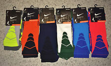 NEW Mens NIKE Elite Vapor Cushioned Football Crew Socks Blue Orange Grey Green