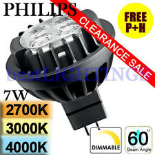 Genuine Philips Master LED MR16 (GU5.3) 7W DIMMABLE in 2700K 3000K 4000K 36D 60D