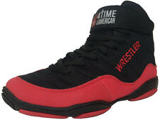 Wrestling Shoes, sizes 6-8.5, RED WRESTLER, by 4 Time All American