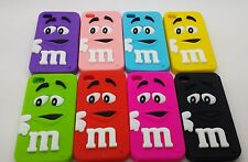 Coque Case Etui Housse mm's m&m's mms Silicone Pr Iphone 4 4S 5 5S  +Film+stylet