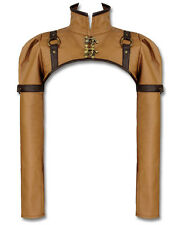 Restyle Brown Faux Leather Steampunk Copper Swing Hook Military Bolero Shrug Top