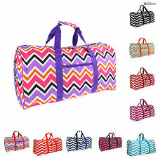 Chevron Duffel Overnight Dance Carry On Gym Travel Weekender Tote Luggage Bag