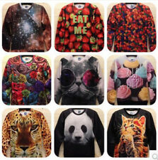 Fashion Women/Men Harajuku print panda/cat/tiger Pullovers animal 3D Sweaters