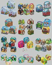 12 PARTY (Food/Lunch) BOXES - Range of Themes/Occasions/Patterns{Birthday/Card}