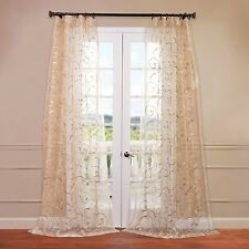 Half Price Drapes Bella Embroidered Sheer Curtain Panel