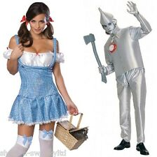 Couples Mens AND Ladies Wizard of Oz Dorothy Tinman Fancy Dress Outfits Costumes