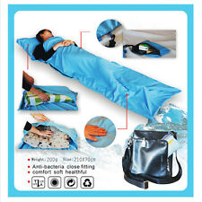 New Outdoor Portable Singer Sleeping Bag Inner Camping Travel Hostel Sheet Sack