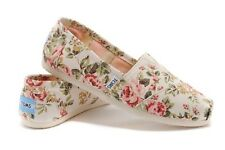 Authentic TOMS Grey Pink Floral/FADED TROPICAL/Shabby Chic Women's Classics Shoe