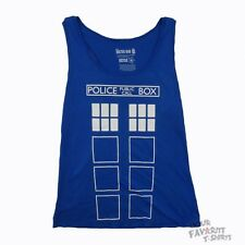 Doctor Who Tardis Police Box Outline BBC Licensed Junior Long Tank Top S-XL