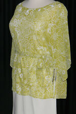 NWT Lime Green and White Pants Suit by Dana Kay Retail $89