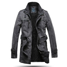 NEWEST  Military~Vintage Style Mens Winter Overcoat Trench Coats Outwear Jackets