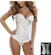 Sexy Ivory Front Fastening Corset Basque with Matching G String/Thong Wedding