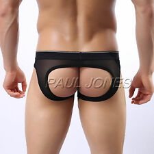 New PROMOTION Mens SEXY Back Hollowed Underwear Jockstrap Y-Front briefs Tanga