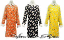 New 1960s GoGo Retro Daisy Mod Peter Pan Collar Twiggy sheer Mini Tunic dress