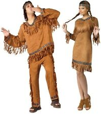 Couples American Indian Man Woman Adult Costume Native Tribe Cosplay Halloween