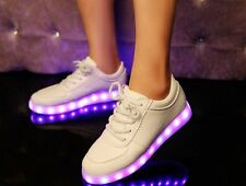 Couple LED Light Lace Up Luminous Shoes Sportswear Sneaker 7color in 1shoes New