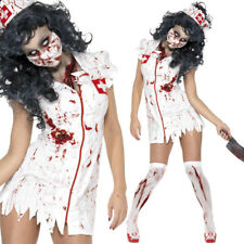 Ladies Zombie Nurse Costume - Zombie Fancy Dress Halloween Walking Dead