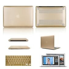 "Laptop Hard Rubberized Case For MacBook Pro Air 11 13 15""+Keyboard Cover Gold"