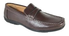 Men Brixton New Leather Driving Casual Shoes Moccasins Slip On Loafers Rayco_02