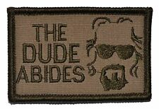 "The Dude Abides, The Big Lebowski - 2""x3"" Hat Patch Police Military Morale Patch"